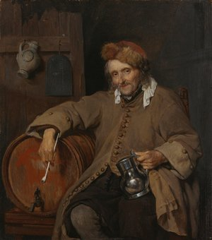 Gabriel Metsu - The Old Drinker