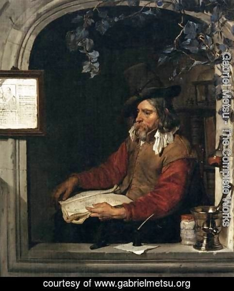 Gabriel Metsu - The Apothecary (The Chemist)