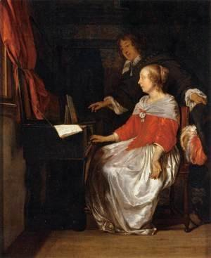 Gabriel Metsu - Virginal Player