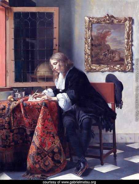 Man Writing a Letter 1662-65