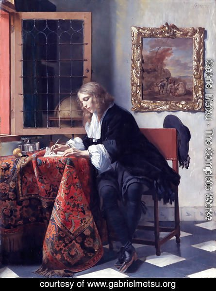 Gabriel Metsu - Man Writing a Letter 1662-65