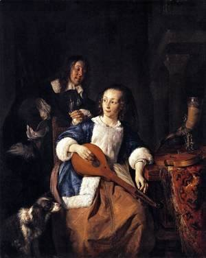 Gabriel Metsu - The Cittern Player 1660