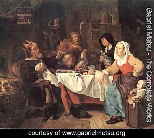Gabriel Metsu - The Feast of the Bean King
