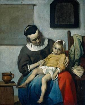 Gabriel Metsu - The Sick Child c. 1660