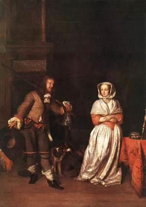 Gabriel Metsu - The Huntsman and the Lady