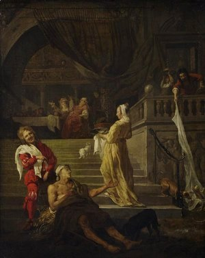 Gabriel Metsu - Lazarus and the Rich Man