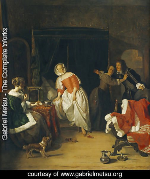 Gabriel Metsu - The Intruder