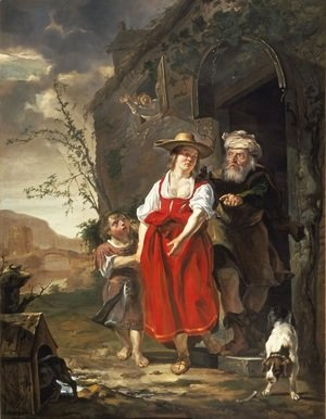 Gabriel Metsu - The Dismissal of Hagar