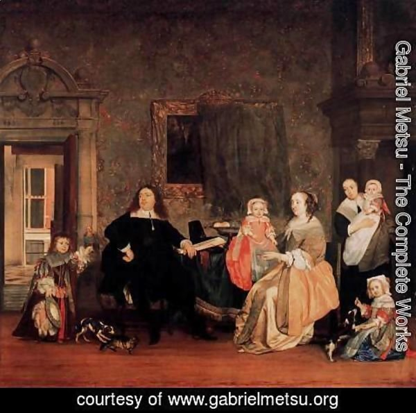 Gabriel Metsu - Burgomaster Gillis Valckenier and his Family 1675