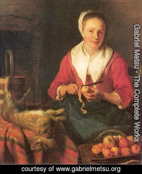 Gabriel Metsu - The Busy Cook