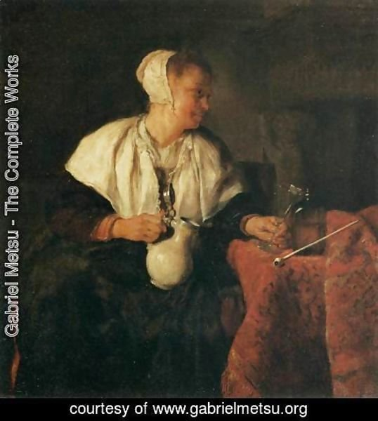 Gabriel Metsu - The Lazy Tippler
