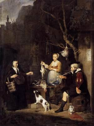 Gabriel Metsu - The Poultry Seller 1662