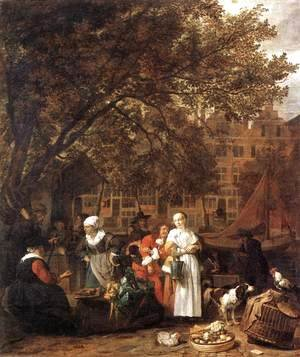 Vegetable Market in Amsterdam 1661-62