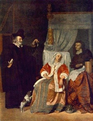Gabriel Metsu - Visit of the Physician 1660-67